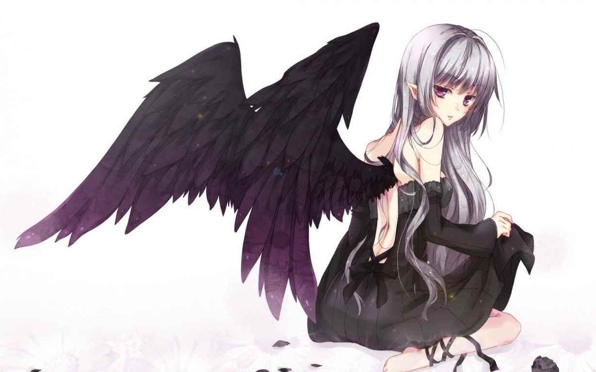 Милые картинки про любовь демона, аниме 15