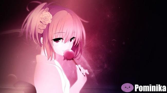 Милые тян с розовыми волосами и розовыми глазами (11)