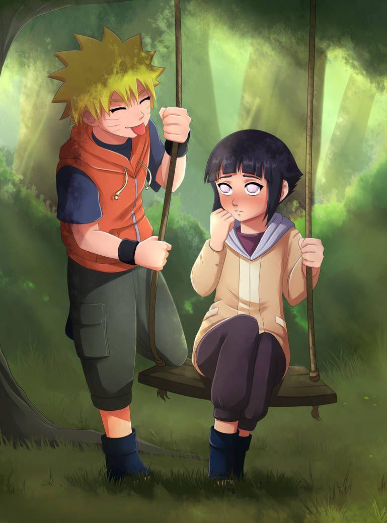 Наруто и Хината, красивые арты их любви (13)