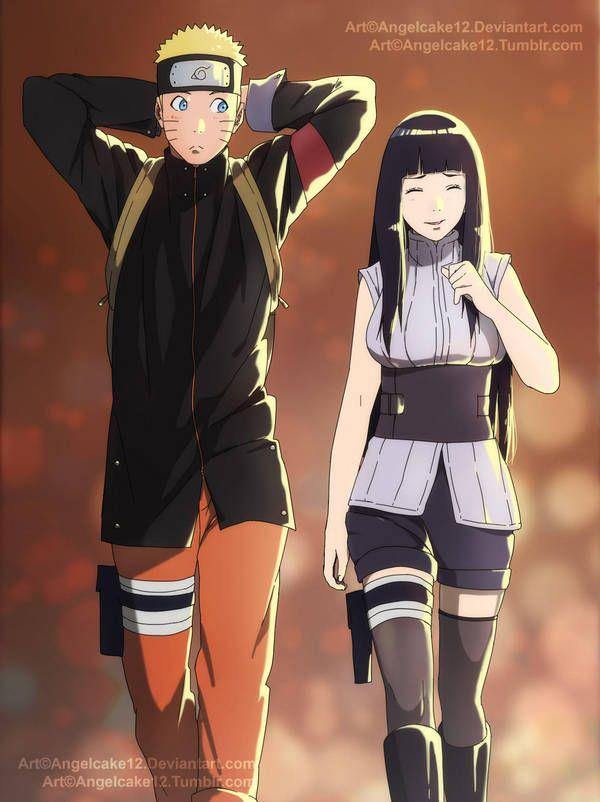 Наруто и Хината, красивые арты их любви (19)