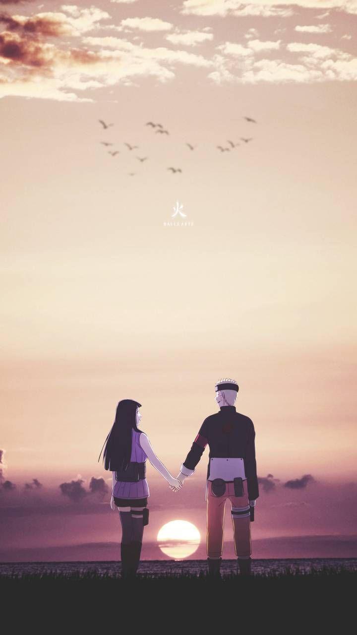 Наруто и Хината, красивые арты их любви (24)