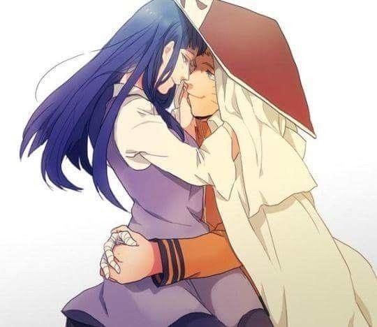 Наруто и Хината, красивые арты их любви (25)