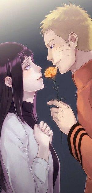 Наруто и Хината, красивые арты их любви (26)