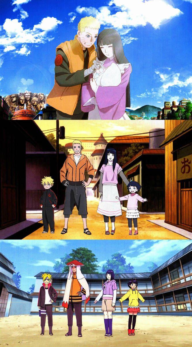 Наруто и Хината, красивые арты их любви (3)