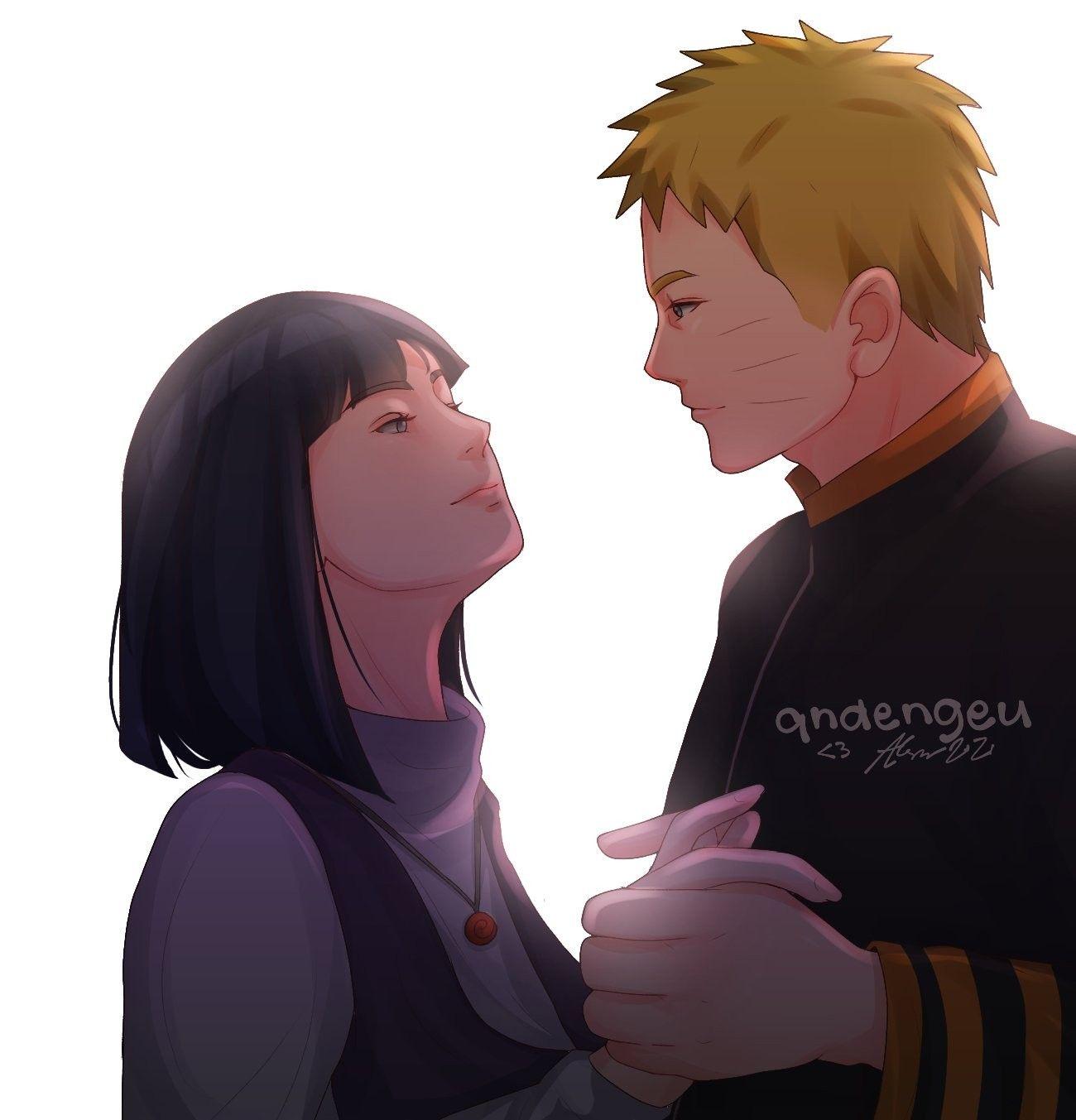 Наруто и Хината, красивые арты их любви (8)
