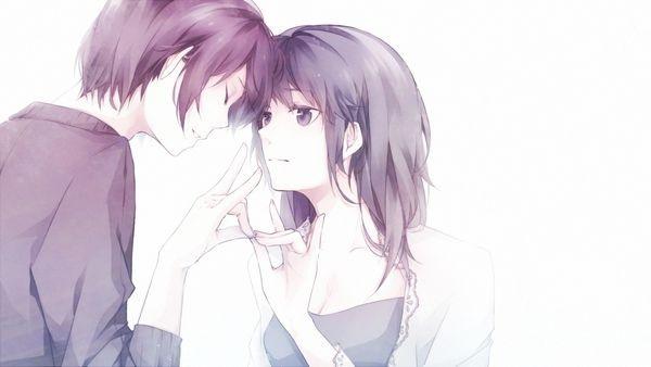 Обои на телефон девушка и парень аниме (11)