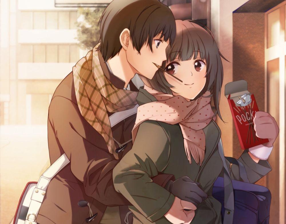 Обои на телефон девушка и парень аниме (12)