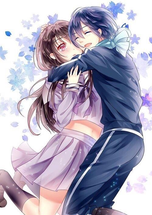 Обои на телефон девушка и парень аниме (13)