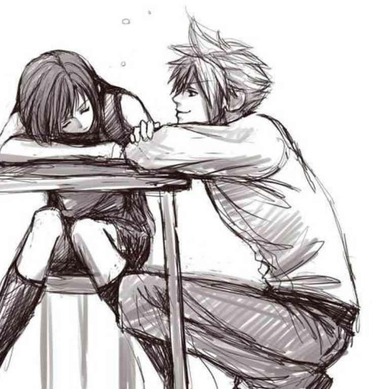 Обои на телефон девушка и парень аниме (18)