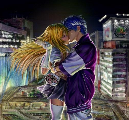 Обои на телефон девушка и парень аниме (19)