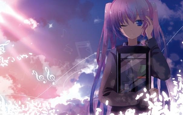 Обои на телефон девушка и парень аниме (2)