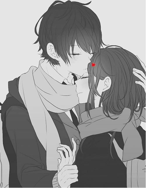 Обои на телефон девушка и парень аниме (24)
