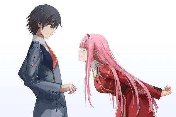 Обои на телефон девушка и парень аниме (8)