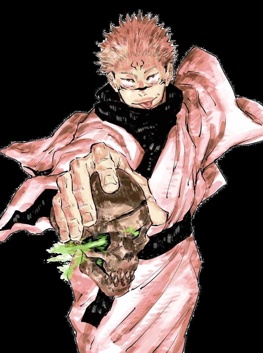 Персонаж Сукуна магическая битва, аниме картинки 01