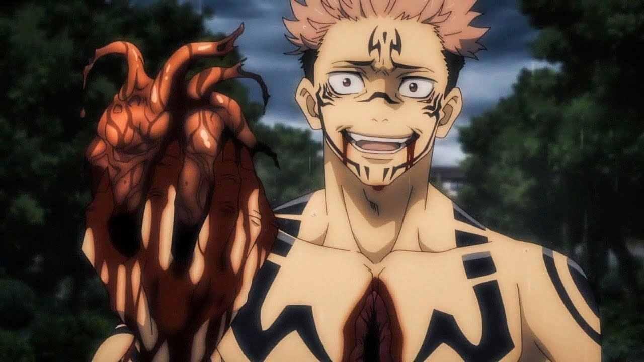 Персонаж Сукуна магическая битва, аниме картинки 08