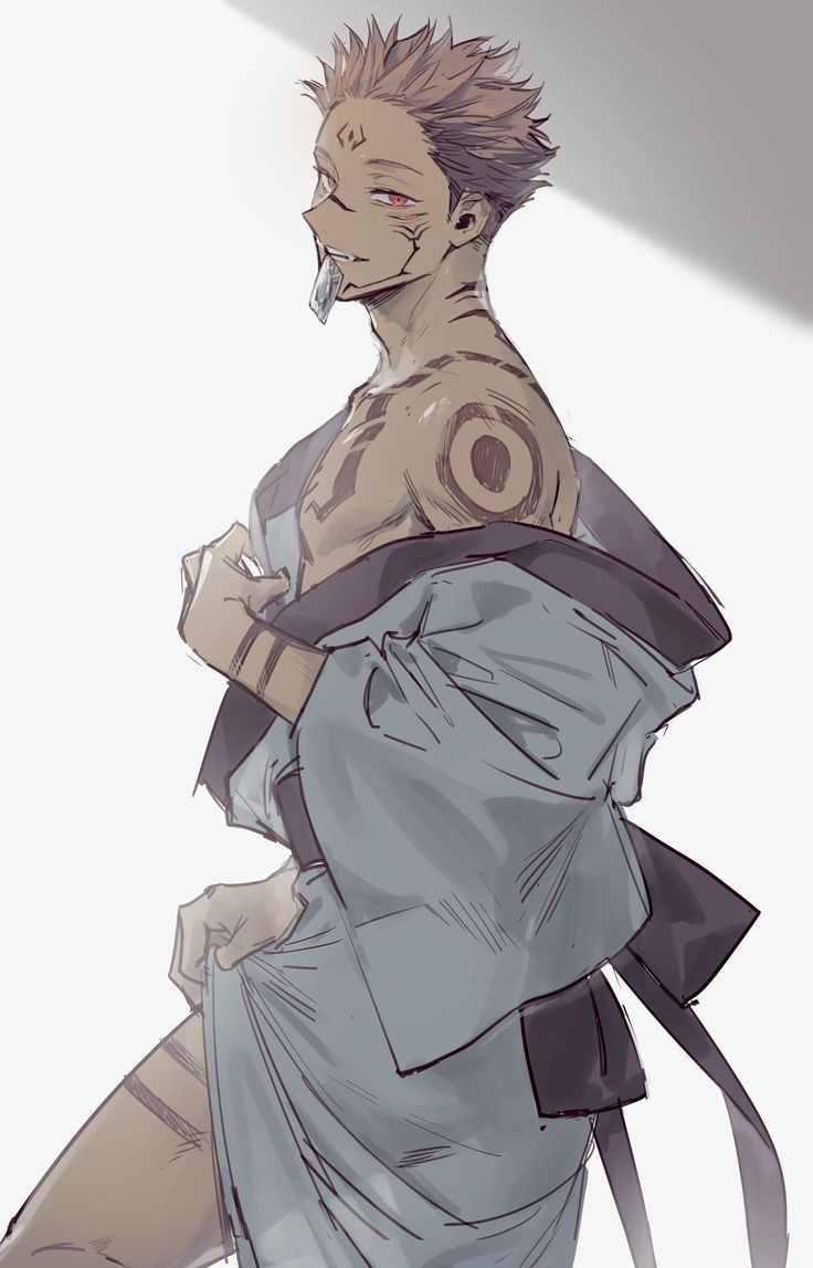 Персонаж Сукуна магическая битва, аниме картинки 21