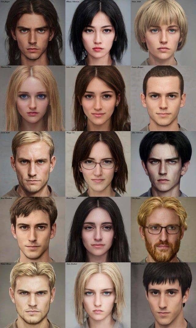 Персонажи Атака Титанов с картинками (11)