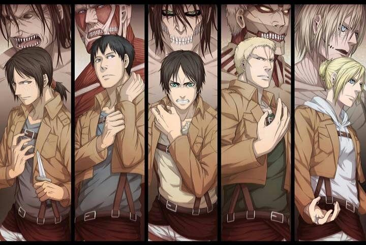 Персонажи Атака Титанов с картинками (18)