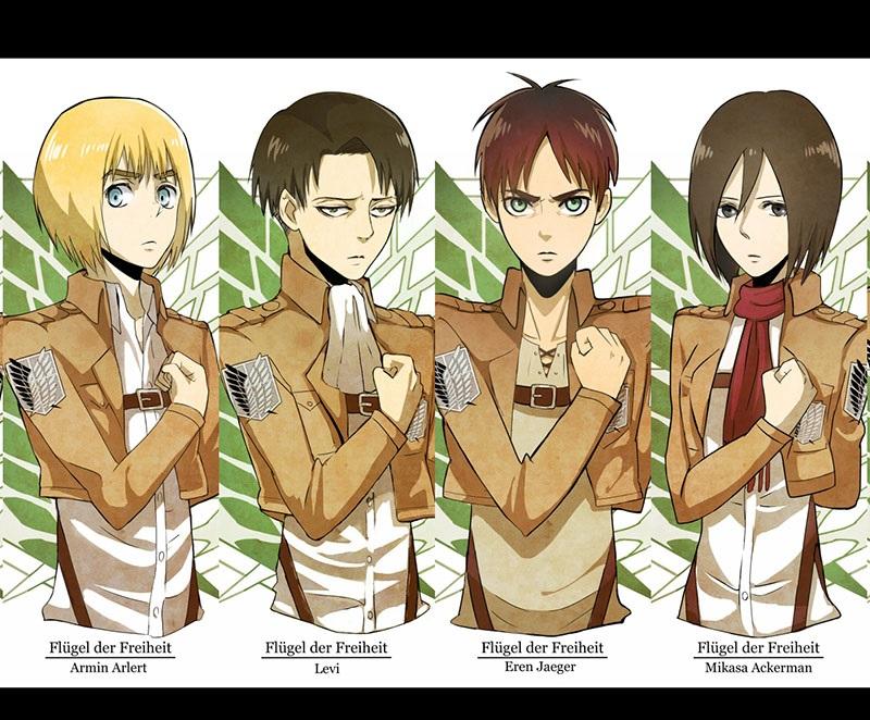Персонажи Атака Титанов с картинками (8)