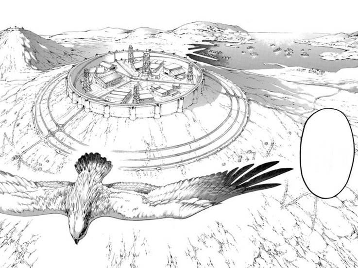 Полет птицы в манге Атака титанов