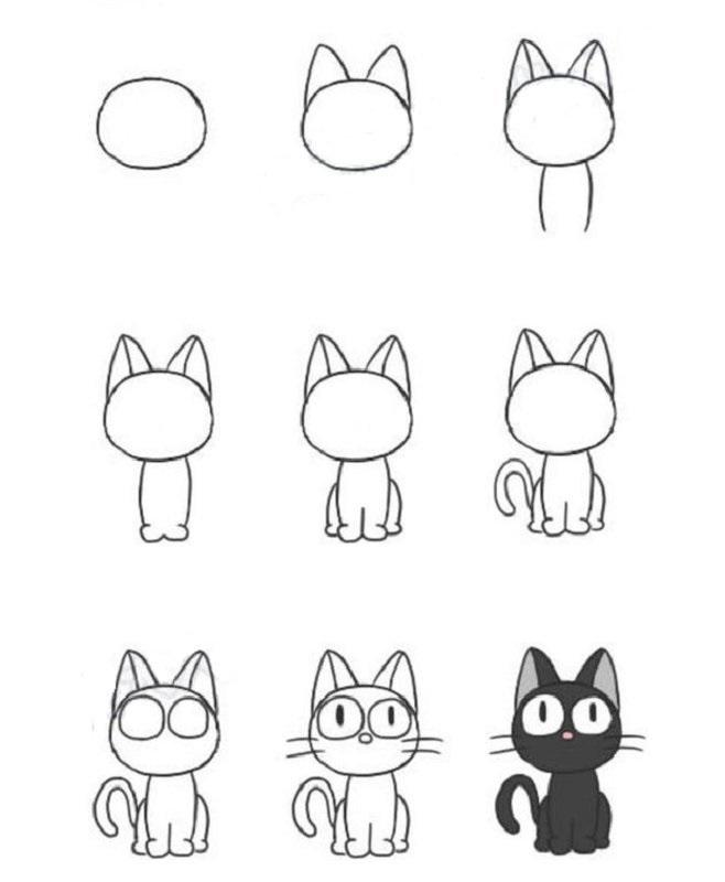 Пошагово рисунки для срисовки   подборочка (1)
