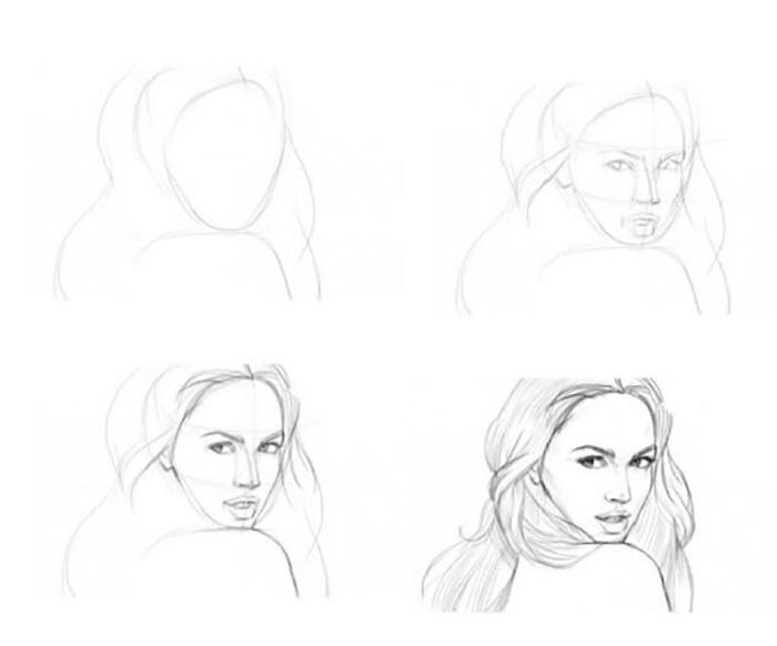 Пошагово рисунки для срисовки   подборочка (10)