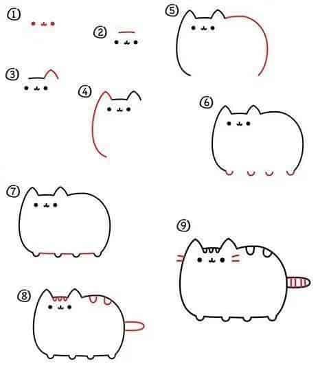 Пошагово рисунки для срисовки   подборочка (11)