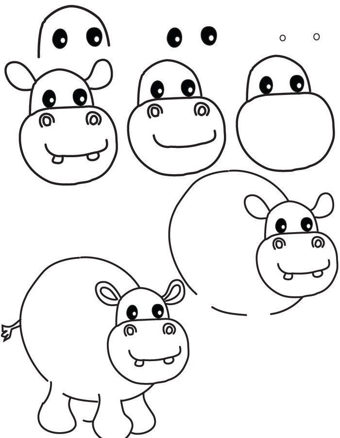 Пошагово рисунки для срисовки   подборочка (15)