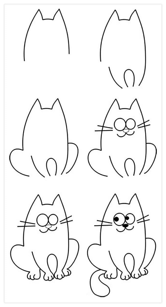 Пошагово рисунки для срисовки   подборочка (16)