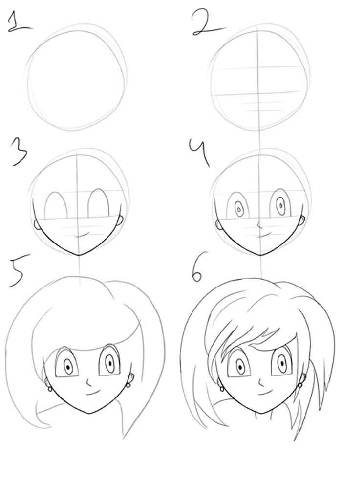 Пошагово рисунки для срисовки   подборочка (18)