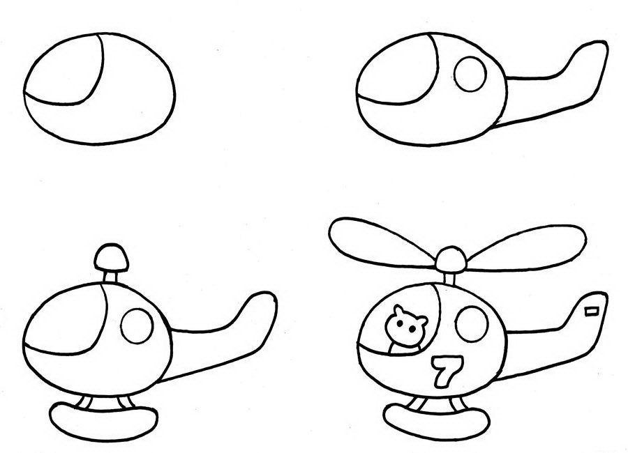Пошагово рисунки для срисовки   подборочка (19)