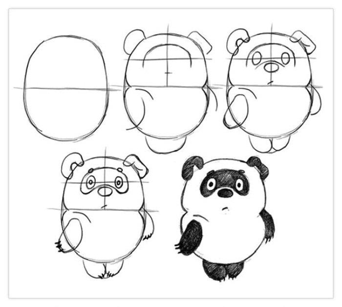 Пошагово рисунки для срисовки   подборочка (20)