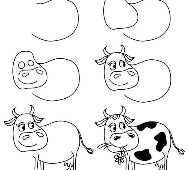 Пошагово рисунки для срисовки   подборочка (23)