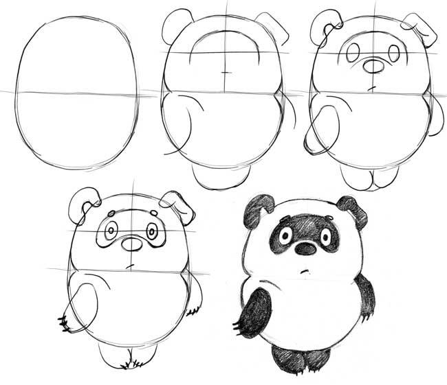 Пошагово рисунки для срисовки   подборочка (24)