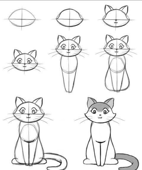 Пошагово рисунки для срисовки   подборочка (4)