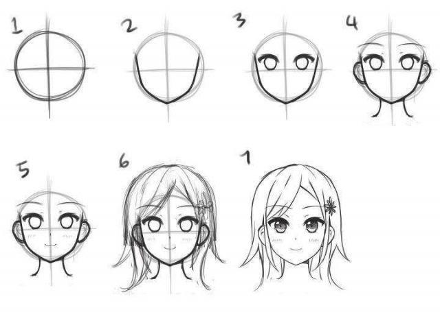 Пошагово рисунки для срисовки   подборочка (5)