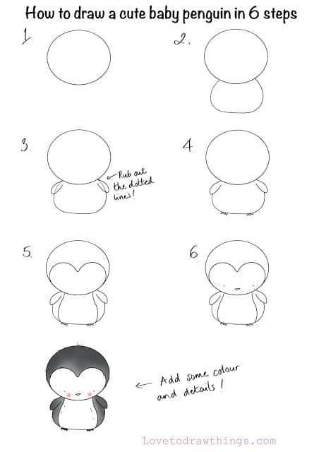 Пошагово рисунки для срисовки   подборочка (7)