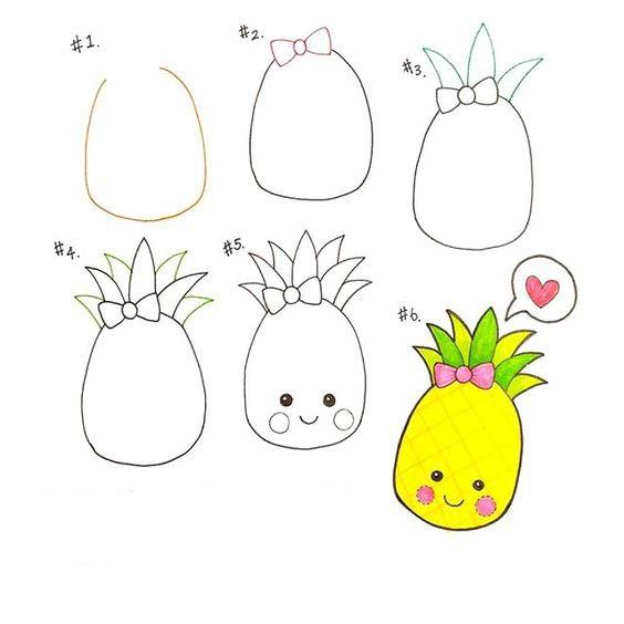 Пошагово рисунки для срисовки   подборочка (8)