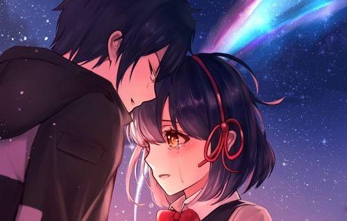 Романтика и аниме, самые милые арты и картинки (10)
