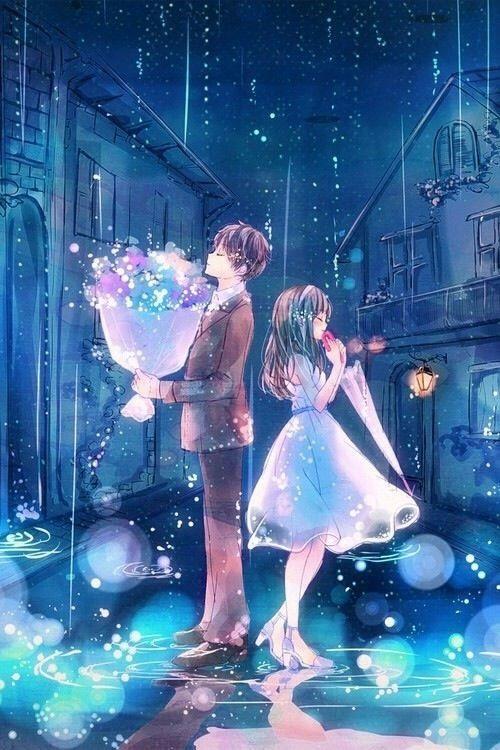 Романтика и аниме, самые милые арты и картинки (12)
