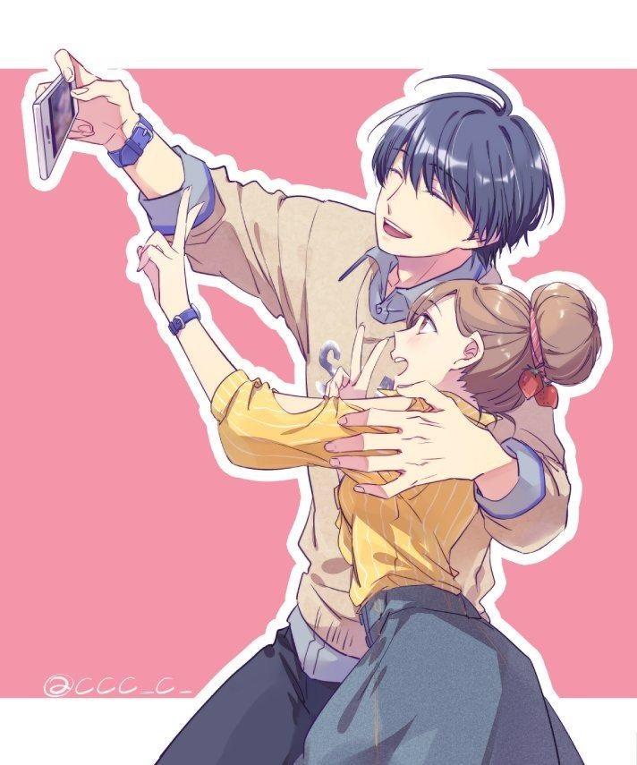 Романтика и аниме, самые милые арты и картинки (13)
