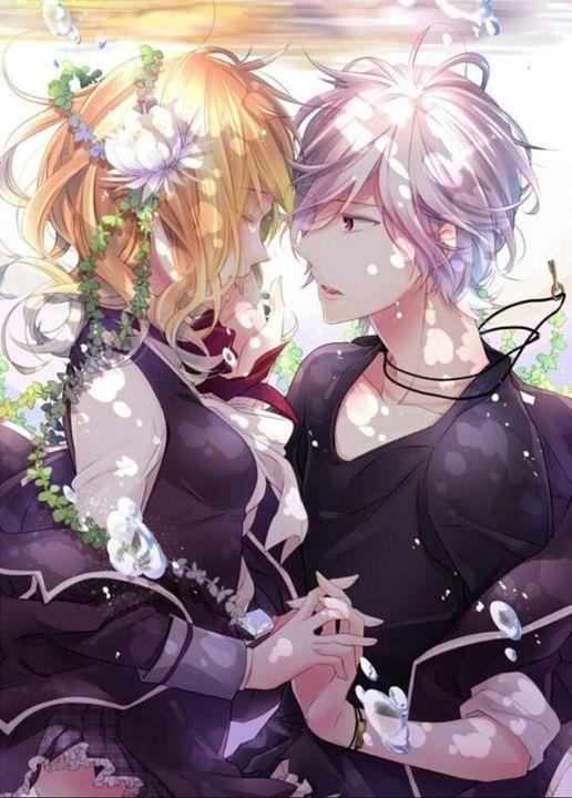 Романтика и аниме, самые милые арты и картинки (15)