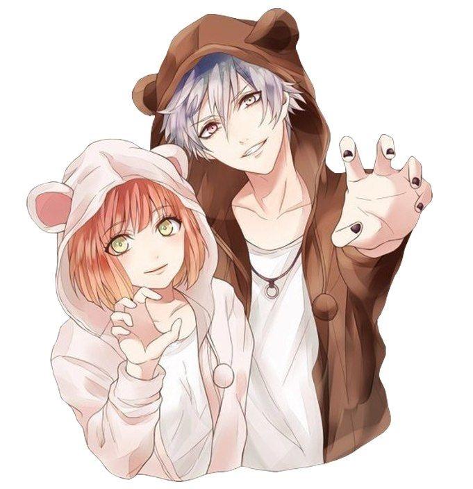 Романтика и аниме, самые милые арты и картинки (16)