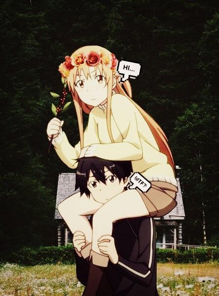 Романтика и аниме, самые милые арты и картинки (17)