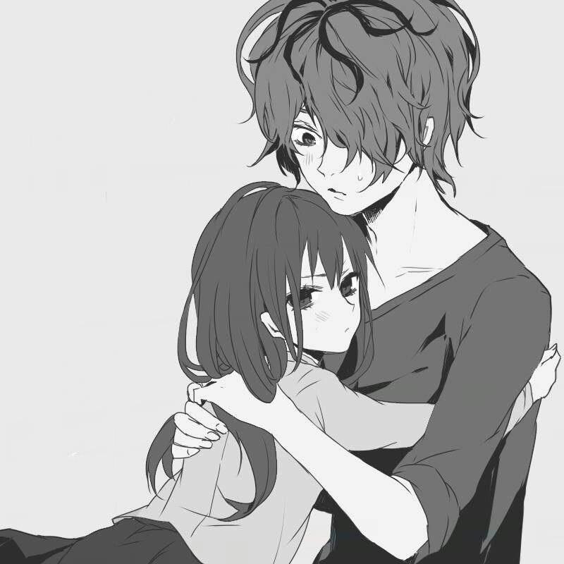 Романтика и аниме, самые милые арты и картинки (18)