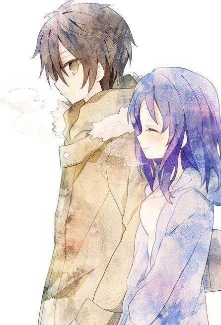 Романтика и аниме, самые милые арты и картинки (24)