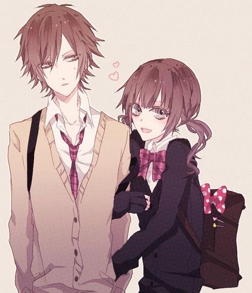 Романтика и аниме, самые милые арты и картинки (25)
