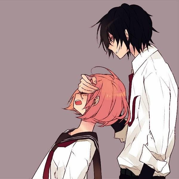 Романтика и аниме, самые милые арты и картинки (3)