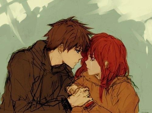Романтика и аниме, самые милые арты и картинки (7)