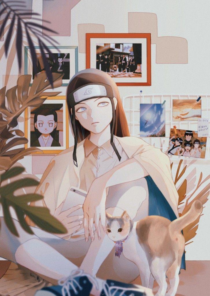 Самые классные аниме арты про Неджи (1)